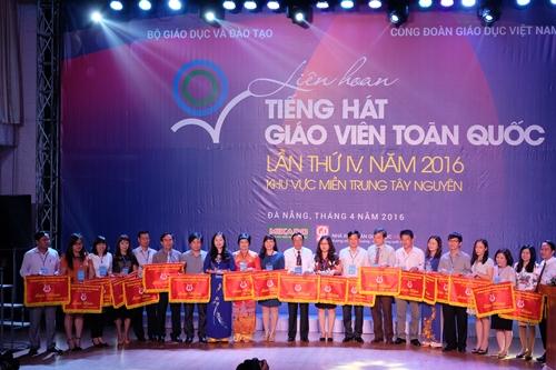 Liên hoan tiếng hát giáo viên toàn quốc lần thứ IV năm 2016 khu vực Miền trung – Tây nguyên