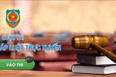 """Hưởng ứng Cuộc thi Tìm hiểu pháp luật trực tuyến """"Pháp luật với mọi người"""" năm 2020."""