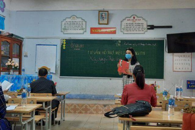 Tổ chức hỗ trợ, tư vấn, hướng dẫn việc xây dựng kế hoạch giáo dục nhà trường cấp tiểu học ở 10 huyện/thành phố
