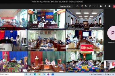 Sở GDĐT tổ chức Hội nghị trực tuyến tổng kết năm học 2020-2021 và triển khai nhiệm vụ năm học 2021-2022