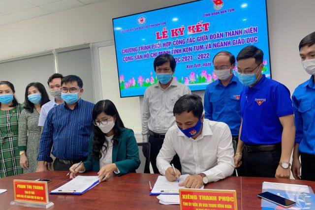 Lễ ký kết chương trình phối hợp công tác giữa ngành Giáo dục và Đoàn Thanh niên Cộng sản Hồ Chí Minh tỉnh Kon Tum năm học 2021-2022