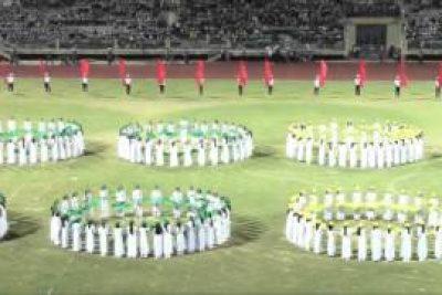 Diễu hành khai mạc hội khỏe phù đổng tỉnh Kon Tum lần thứ VII 2016