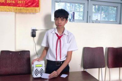 Tác giả 'Thiết bị kiểm soát học sinh trên xe đưa đón' là học sinh lớp 9 ở Kon Tum
