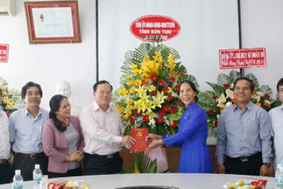 Thường trực Tỉnh ủy, HĐND, UBND, UBMTTQVN tỉnh thăm, chúc mừng các cơ sở giáo dục nhân kỷ niệm ngày Nhà giáo Việt Nam